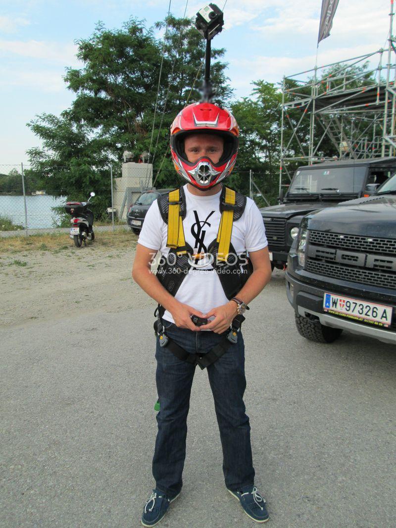 360 degree helmet camera mount