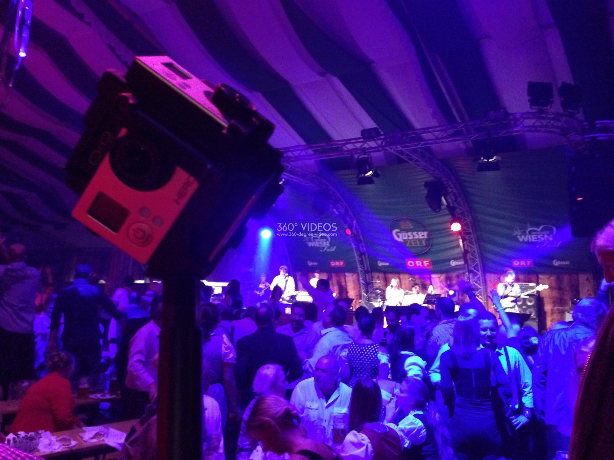 360 degree camera party night