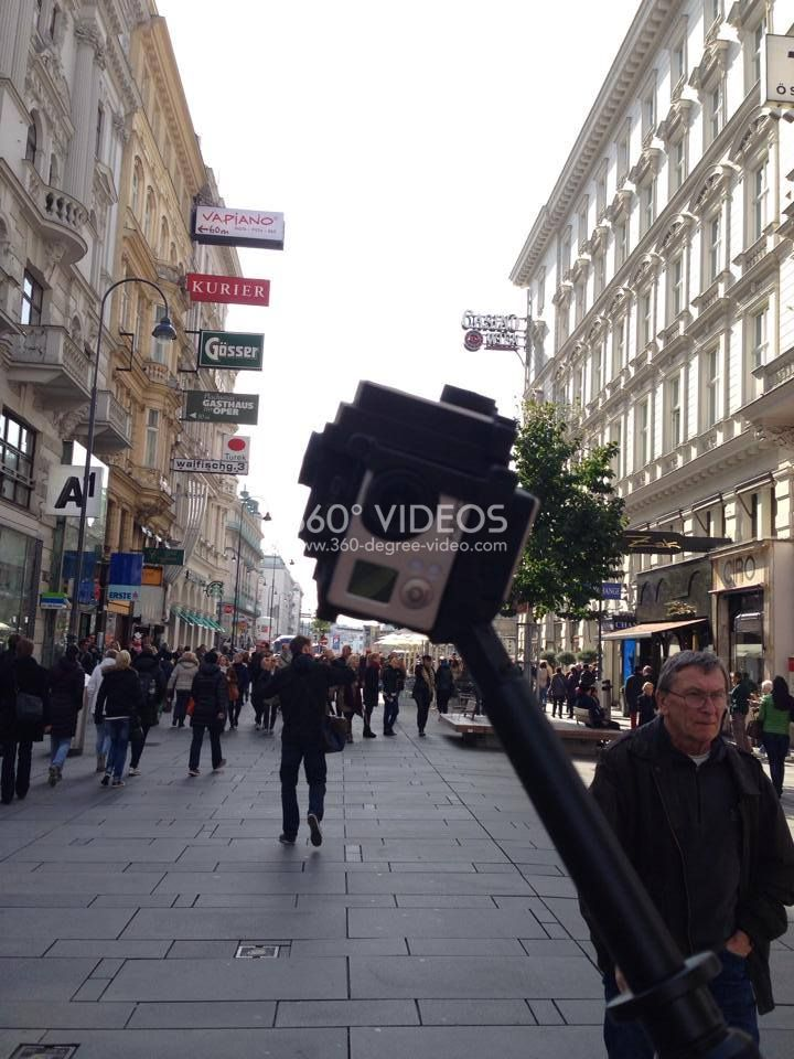 360 degree video city