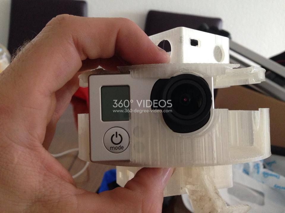gopro 360 3d printed