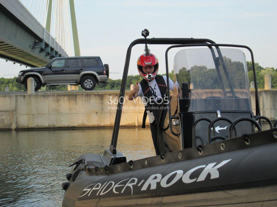 speadboat 360 degree video