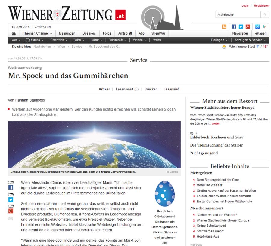 Wiener Zeitung | Alessandro Dimas